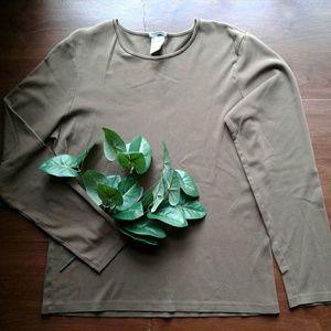 Old Navy easy fit long sleeve layering tee brown